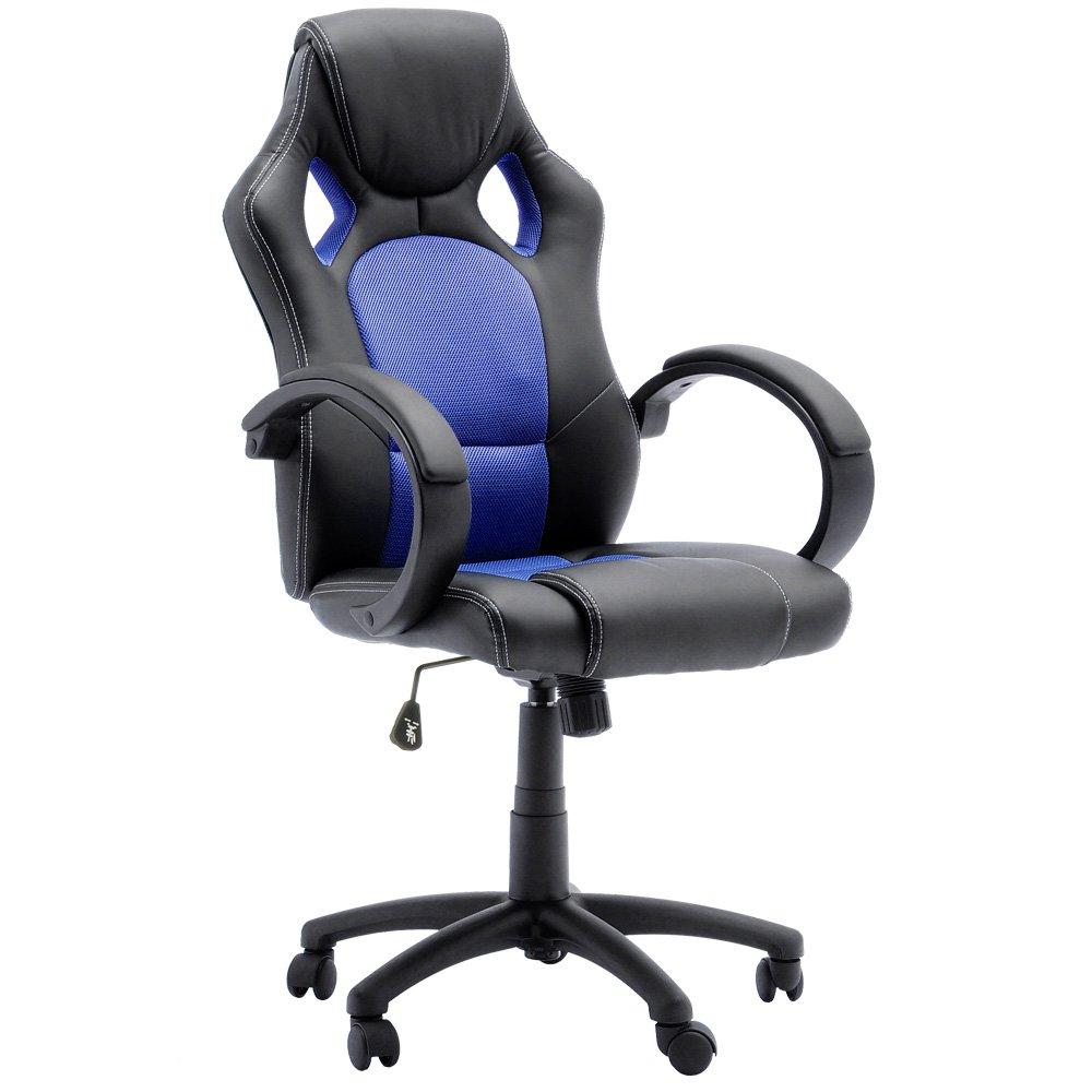 Robas Robas Robas Lund, Stuhl, Bürostuhl, Chefsessel, Ricky, schwarz blau, 60 x 68 x 117 cm, 62515SB3 2558a3