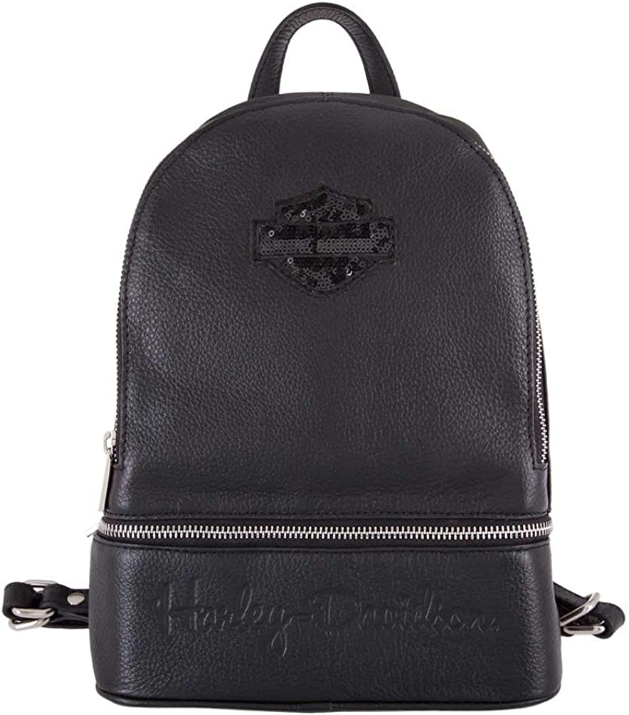 Black HDWBA11393-BLK Harley-Davidson Womens Tiny Wings Bar /& Shield Mini Bag