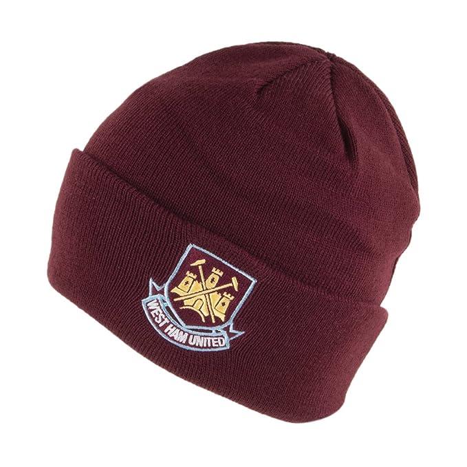 c5b76c464 Village Hats West Ham United FC Core Cuffed Beanie Hat - Burgundy