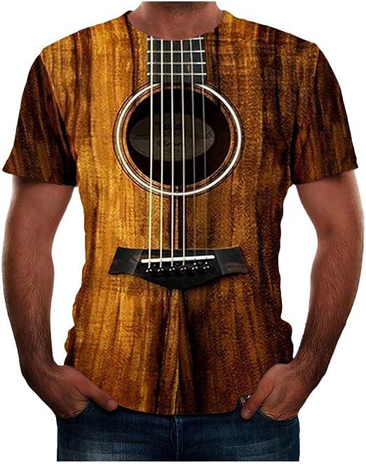 Guitar King V-neck Shirt Music Musician T-shirt Tee T-Shirt Short Sleeve S-XXXL