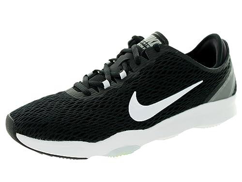 2016 new Nike Women's Zoom Fit Training Shoes Cheap - Black/White/Volt