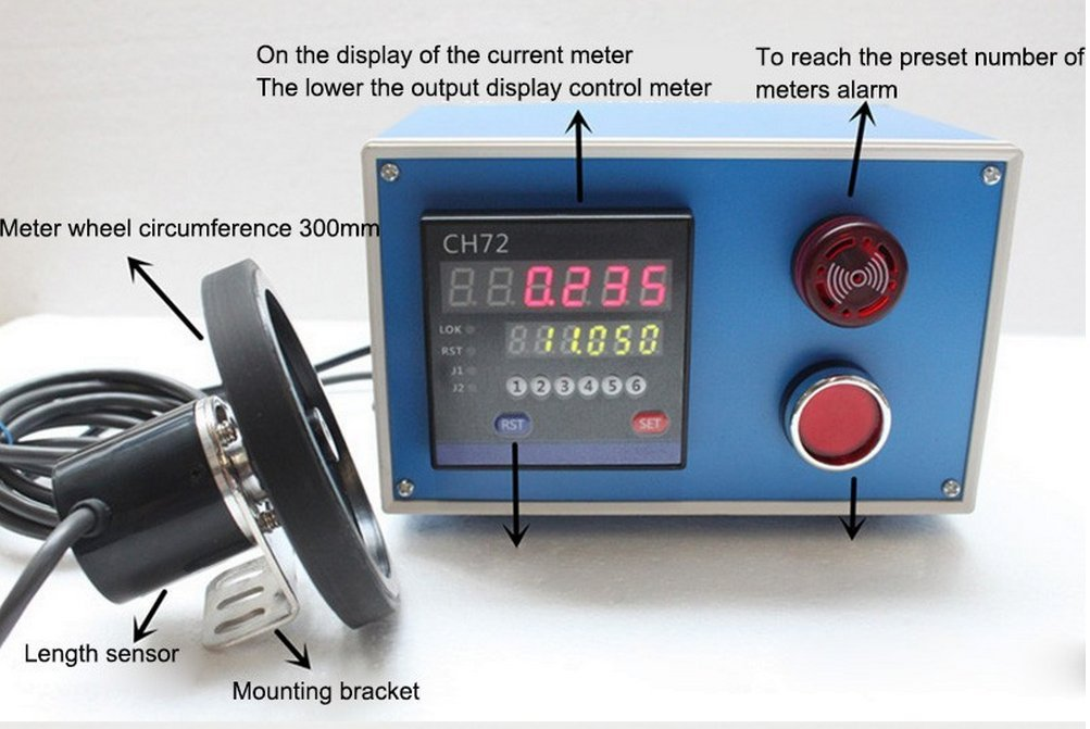 Electronic Length Counter Electronic Encoder Wheel Roller electronic Meter Measuring Machine