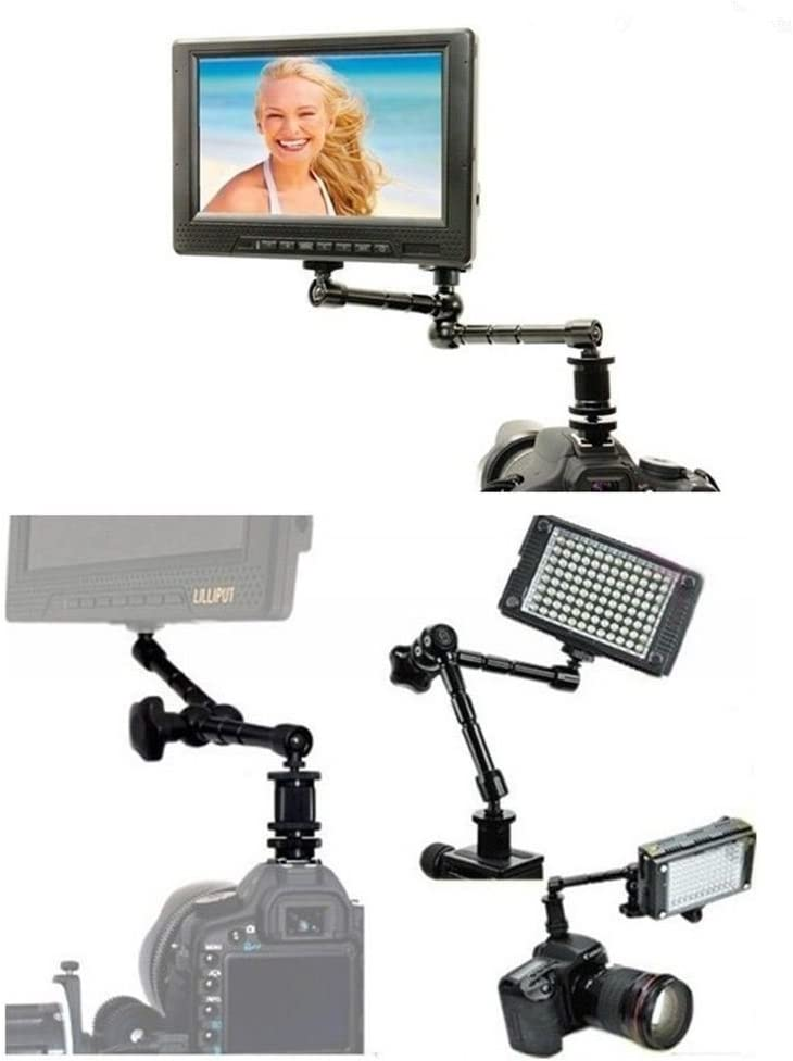 7 Friction Articulating Magic Arm for LCD Monitor on-camera LED Flash Light