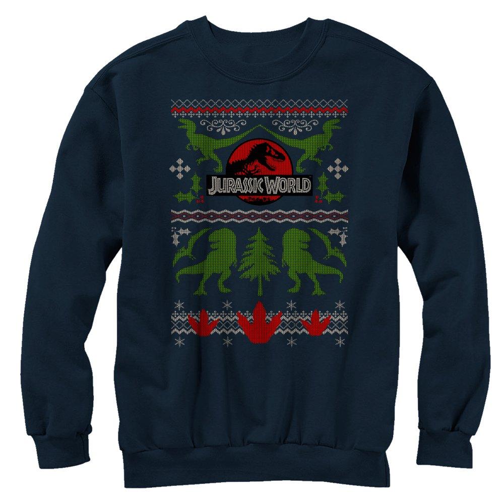 Fifth Sun Jurassic World Men\'s Ugly Christmas Sweater Print ...