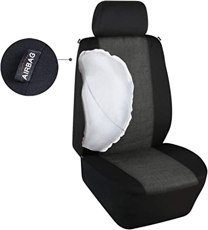 Black Front Seat Covers//Protectors 1+1 Heavy Duty S- tech automotive Explorer 97-01 Water Resistant