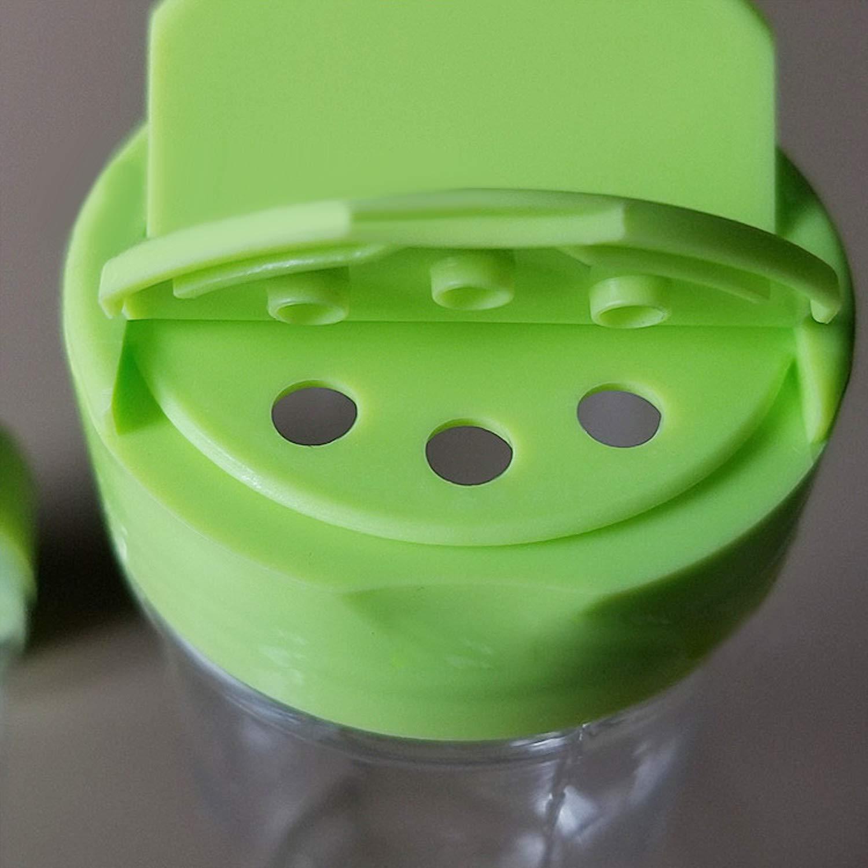 12 UNIDS 200 ml de Doble apertura de Pl/ástico Vac/ío Botellas de Sal de Pimienta para Hogar Cocina Restaurante Mesa de Comedor Refectorio Verde