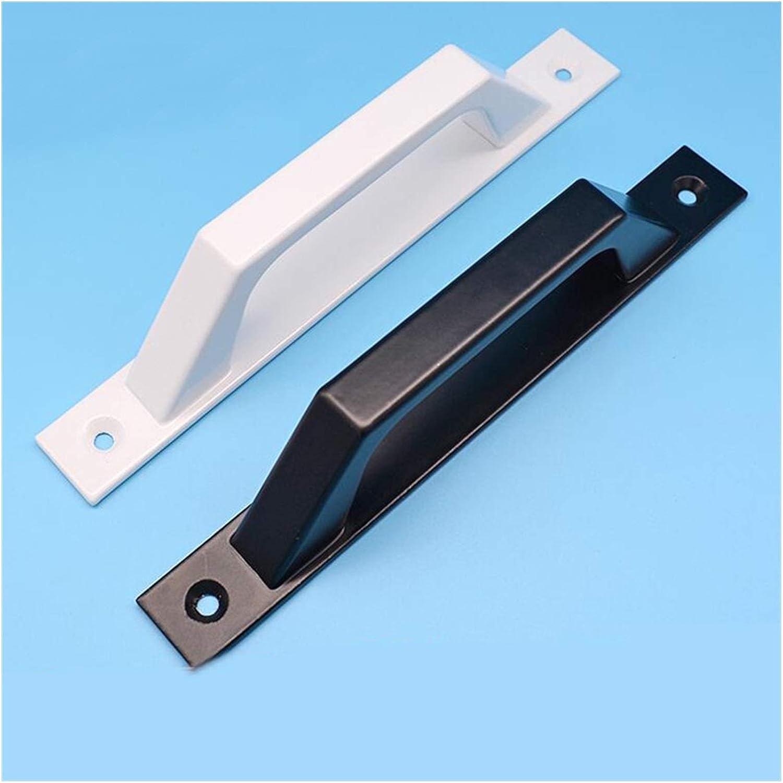 Tirador De Puerta Manija 1pcs Negro Blanco aleación de aluminio de la puerta for extrusión de perfiles de aluminio, manija de la puerta de madera, Distancia del agujero 175mm Manija de la puerta