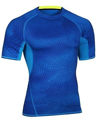 Camiseta de Compresión Camisetas de Running Camisas Manga Corta para Hombre: Amazon.es: Ropa y accesorios