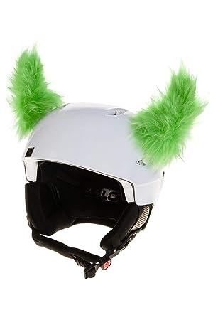 Crazy Ears Schwarze H/örner Teufel H/örner Helmm/ütze Helm-Ohren Helm Aufkleber