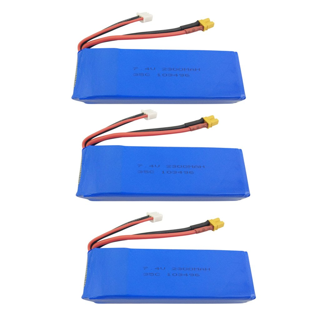 Fytoo 3PCS 7.4V 2300mah Lipo Batterie für MJX B6 B6W B6F B6FD B8 Bugs 6 Bugs 8 RC Quadcopter Drone Brushless Upgrade-Zubehör Batterie