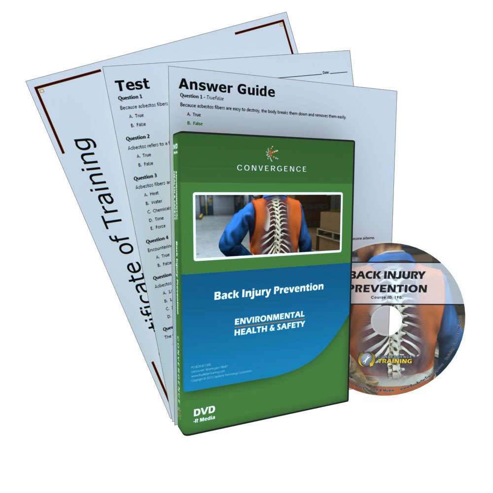 Convergence C-390 Back Injury Prevention Training Program DVD, 23 minutes Time