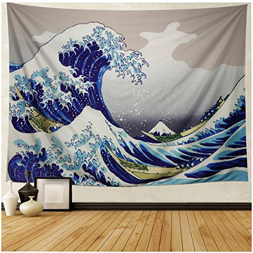 Home Textile Modest Sea Wave Printed Mandala Tapestry Yoga Mat Wall Hanging Decoration Bedroom Living Room Table Couch Cover Beach Towel
