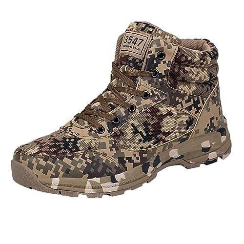 Logobeing Botas Militares - Zapatillas de Deporte de Hombre Estilo Camuflaje Mantener CáLidas Botas Militares del