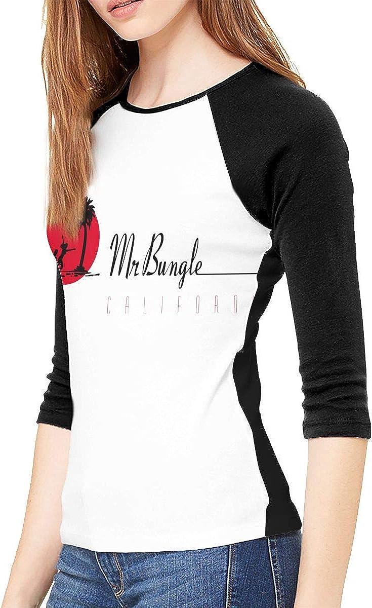 Mr Bungle California T Shirts Woman 3//4 Long Sleeve Round Neck Baseball Top
