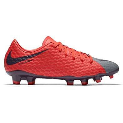 e3f76e9a5ae Nike Women s Hypervenom Phelon III FG Soccer Cleat Cool Grey Purple Dynasty  Max Orange