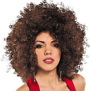 70s Disco Fever Brown Runway Afro Wig