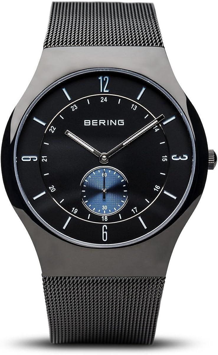 BERING Reloj Analógico para Hombre de Cuarzo con Correa en Acero Inoxidable 11940-228