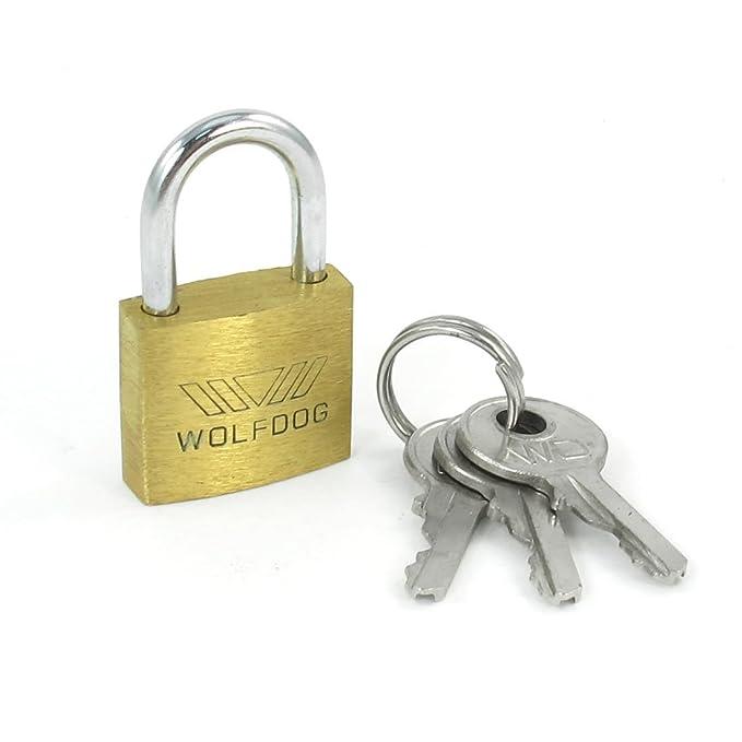mini size security 20mm width door lock brass padlock with 3 keys