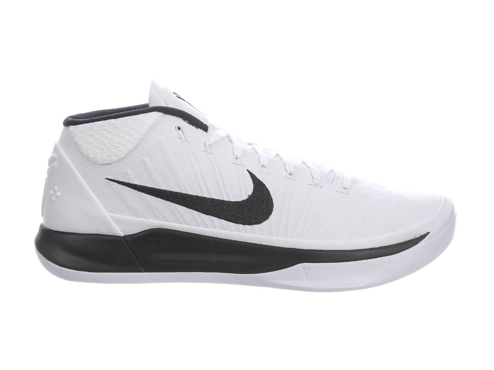 e81fb14f5a4 Galleon - Nike Men s Kobe A.D. White Black Nylon Basketball Shoes 13.5 D(M)  US