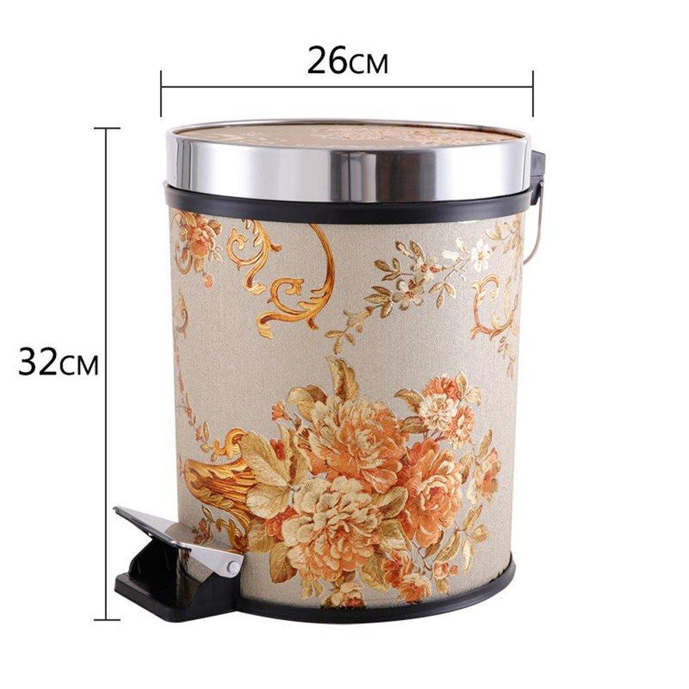 QIYUEQI Fûts en plastique PP 26*32cm Petites fleurs lilas respectueuse de l'environnement et faciles à nettoyer car trash & seau