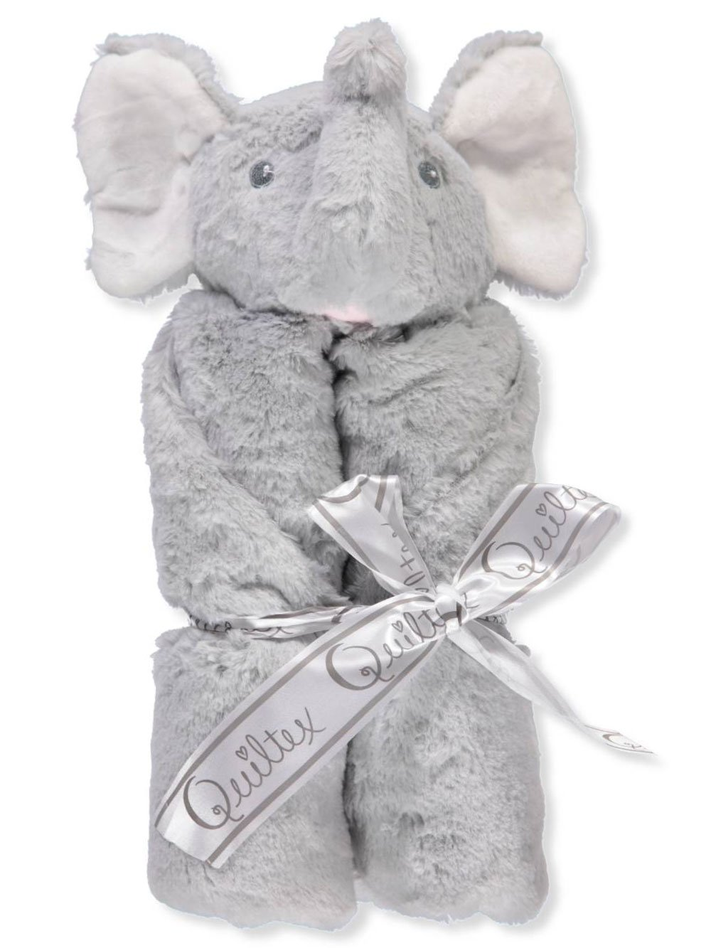 Quiltex Security Blanket - Elephant - gray, one size