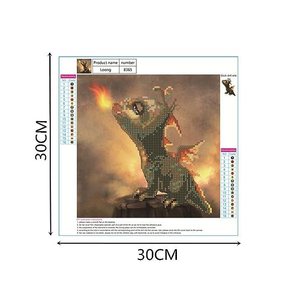 365 Soffette 5D Diamante Pintar por N/úmero Kits Nuevo DIY para Adultos Punto de Cruz Completo Conjunto de Herramientas Bordado Letras Arte Imagen Suministros Casa Pared Decoraci/ón Dinosaurio