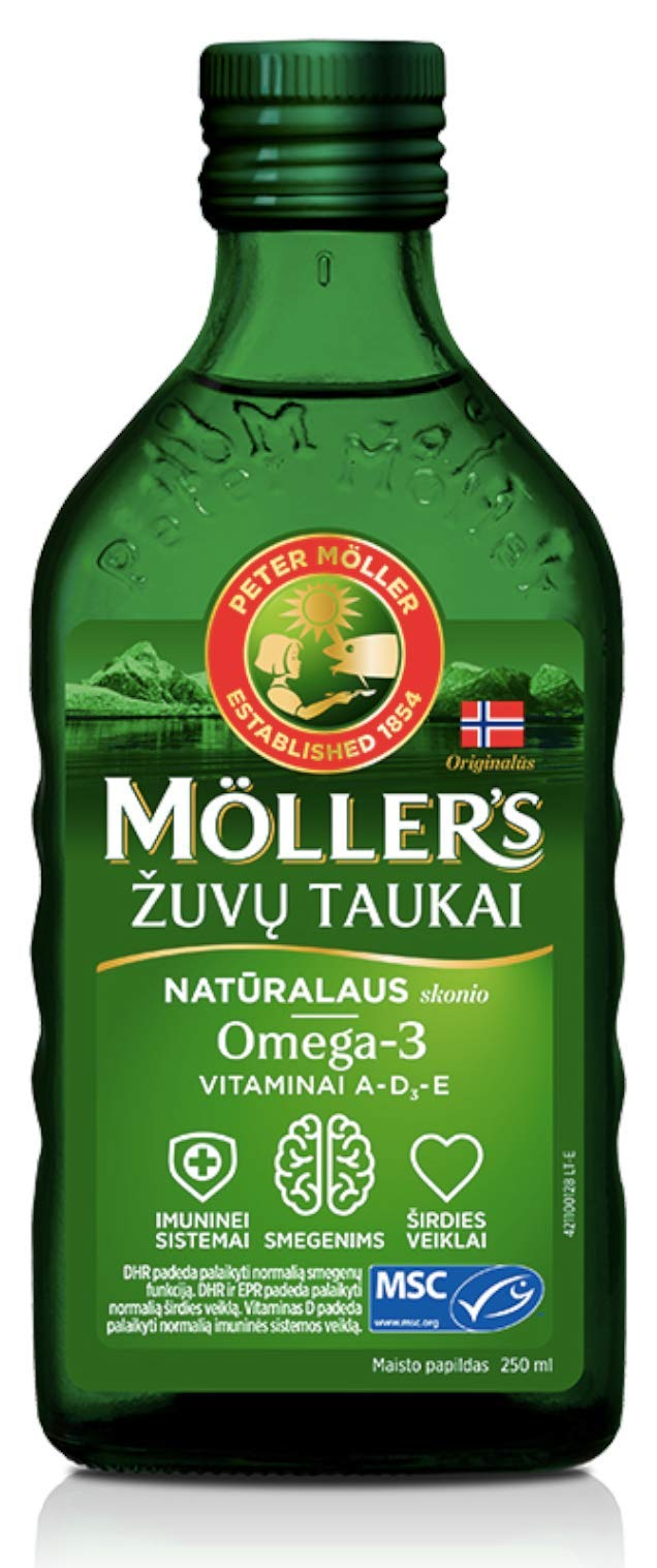 Moller's Fish Oil Omega 3 - Natural Flavour - Baby Children Adults