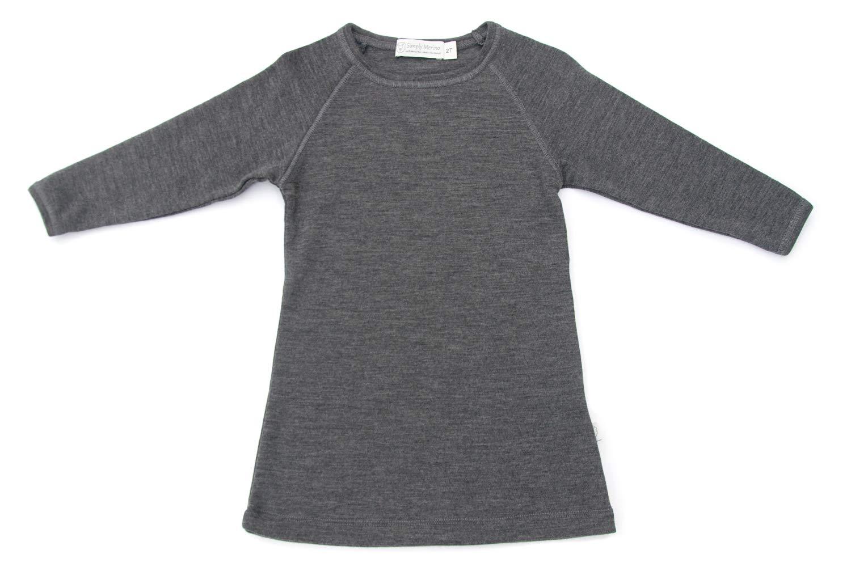 100% Pure Organic Merino Wool Cozy Play Dress, 3T Charcoal by Simply Merino
