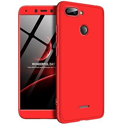 san francisco 2f002 24c9e Amazon.com: Shinyzone Xiaomi Redmi 6 3 in 1 Hard Case 360 Degree ...
