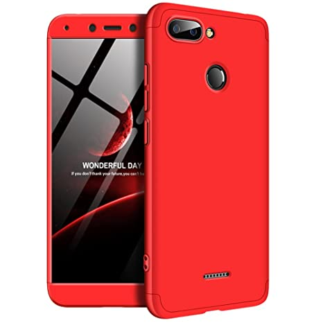 Solaxi Funda Xiaomi Redmi 6/6A Carcasa Mate 3 en 1 360 Grados Cuerpo Completo Ultra Delgado PC Duro Superficie Antigolpes Anti-Arañazos [Protección ...