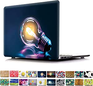 PapyHall Newest 2 in 1 Color Printing Plastic Shell Cove for 2015/2014/2013/2012 Ver No CD-ROM MacBook Pro 15 inch with Retian Display Model: A1398 Bulb