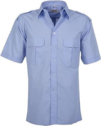 Arrivee - Camisa de piloto de manga corta L-4XL (41/42-49/50): Amazon.es: Ropa y accesorios