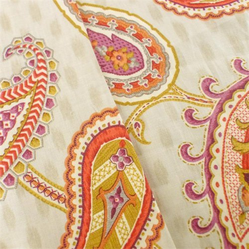 Ivory/Multi P Kaufmann Paisley Print Home Decorating Fabric, Fabric By the ()
