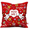 61x3sP LmmL. SS100 Indigifts Valentine Gift for Boyfriend Love Hug Me Quote Red Cushion Cover 12x12 inches with Filler - Valentine Gifts…