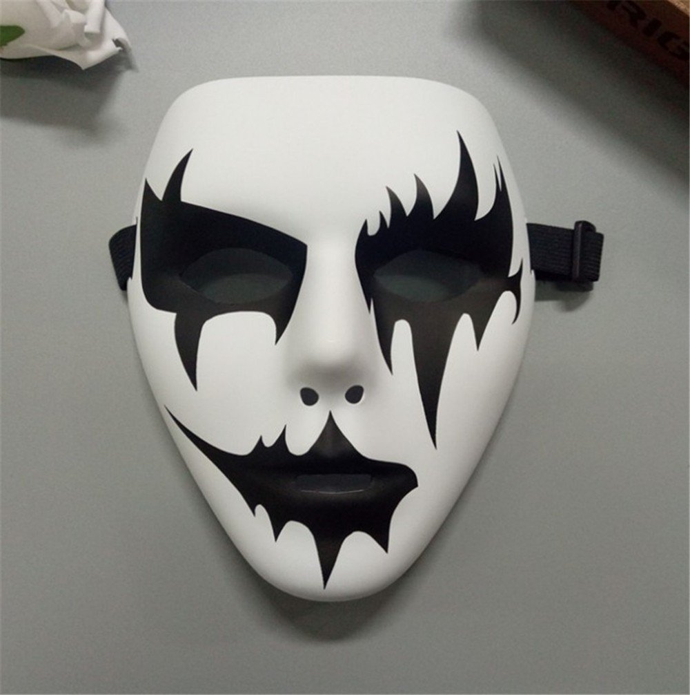 Masken Gesichtsmaske Gesichtsschutz Domino falsche Front PVC-Straßentanz Maske grünes Material Handbemalt Hip-Hop Maske Graffiti-Maske Tanz Maske 2