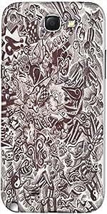 Snoogg Sketch Diseñador Blanco Y Negro Caso Protector De La Contraportada Par...