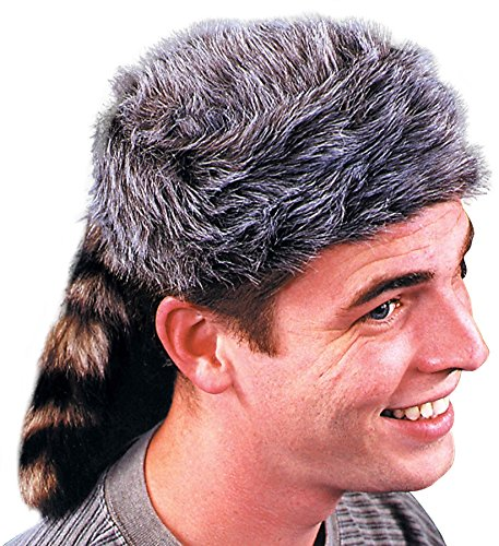(UHC Men's Disney Davy Crockett Coonskin Cap Adult Halloween Costume)