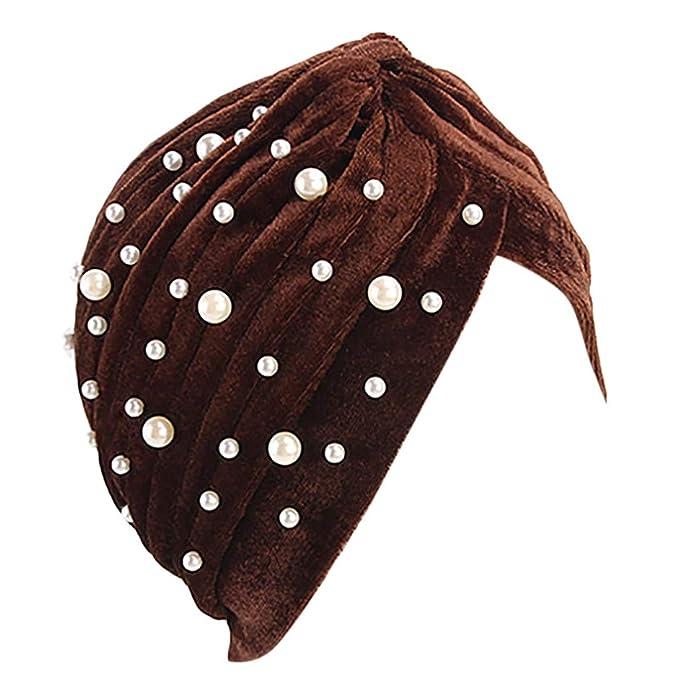 Rcool Gorras de béisbol Viseras Gorro de pescador Pamelas Sombreros Panamá, Mujeres India musulmán estiramiento algodón floral turbante F: Amazon.es: Ropa y ...