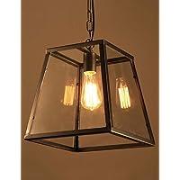 Araña de luces candelabro Creativa Retro Hierro Vidrio