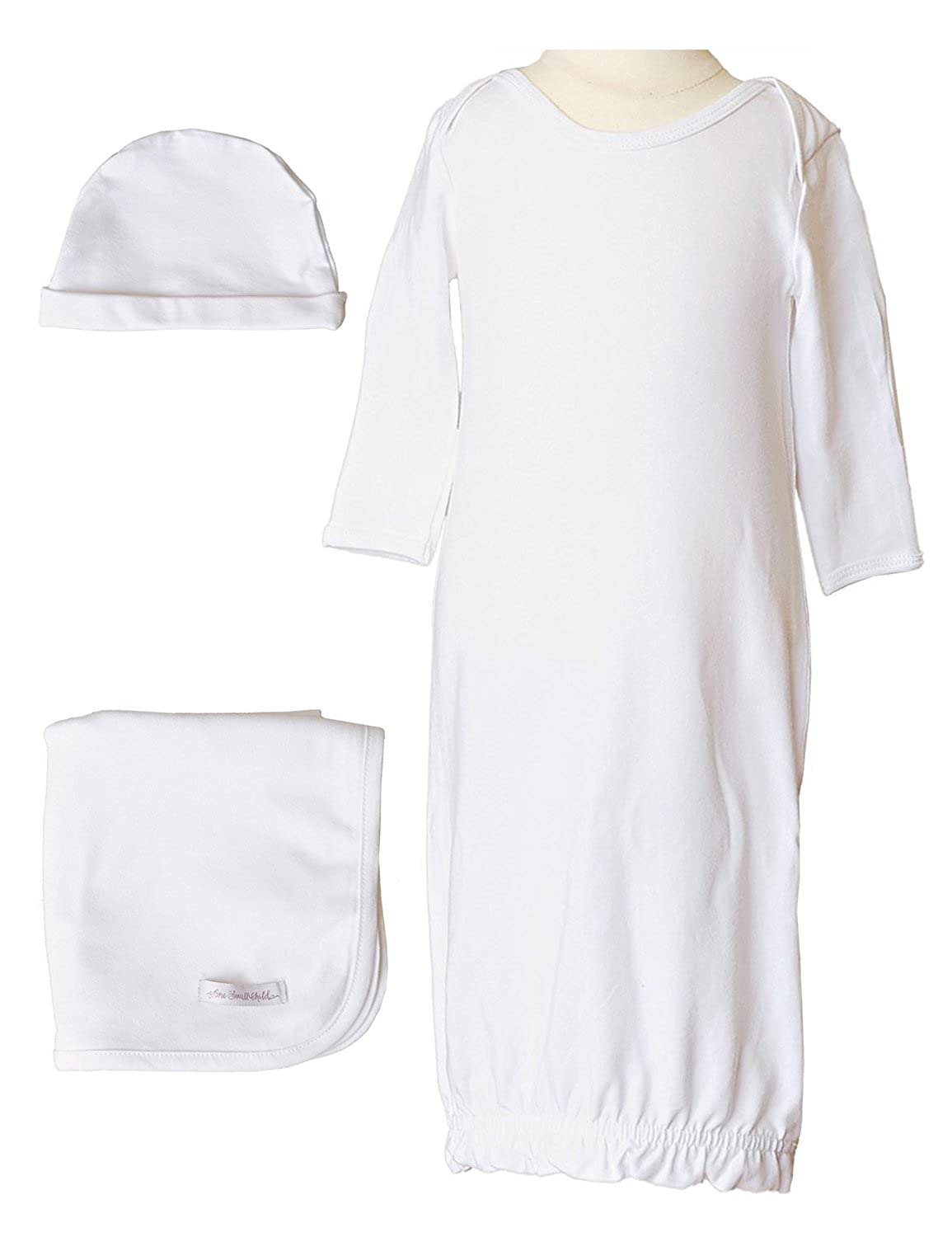 One Small Child Boys Three-Piece Bamboo Layette Set
