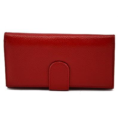 Monedero Para Mujer En Piel Verdadera Color Rojo - Peleteria ...