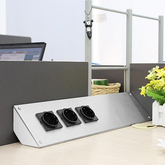 mvpower prise electrique prises de courant murale en aluminium ... - Prise De Courant Pour Plan De Travail Cuisine