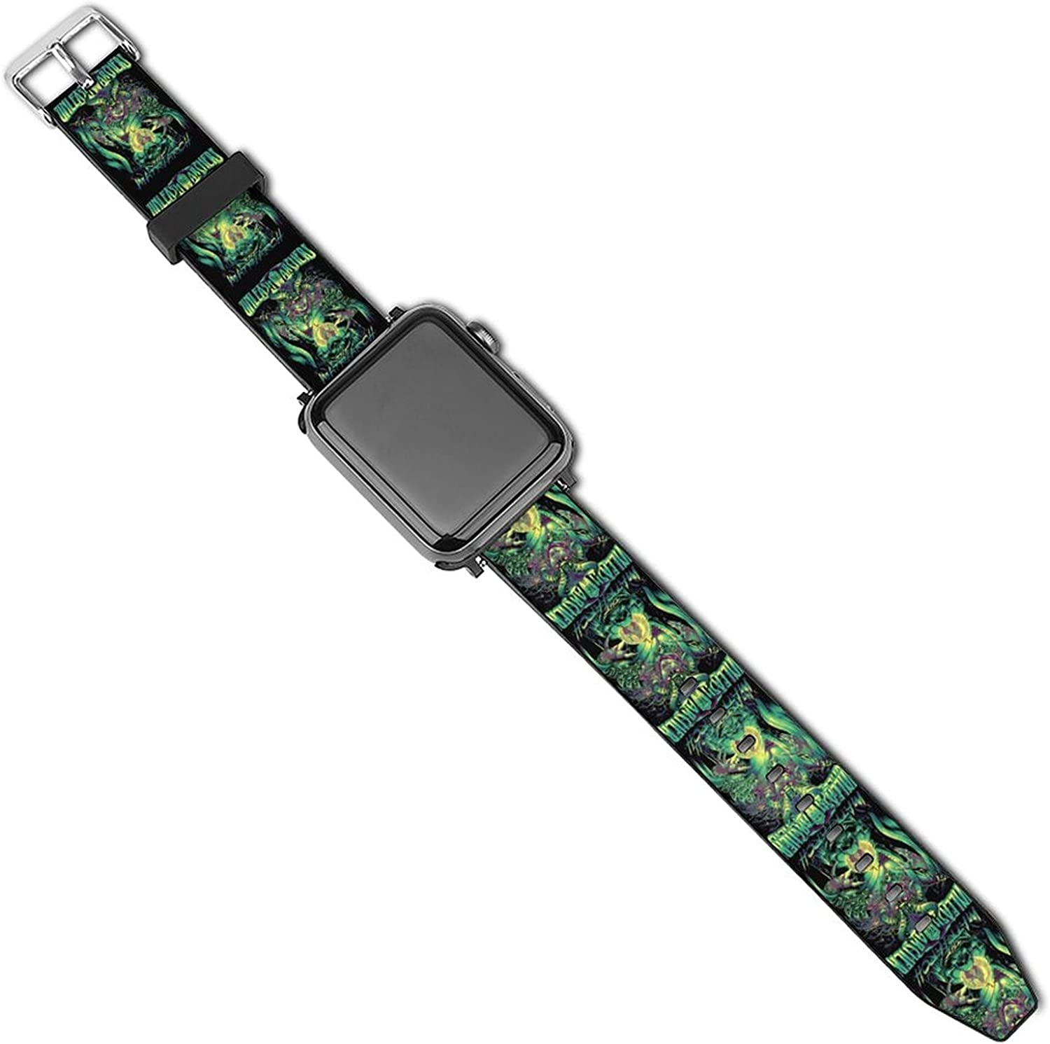 Un-leash The-Archers Fashion Patterned Leather Wristband Strap for Apple Watch Series 5/4/3/2/1