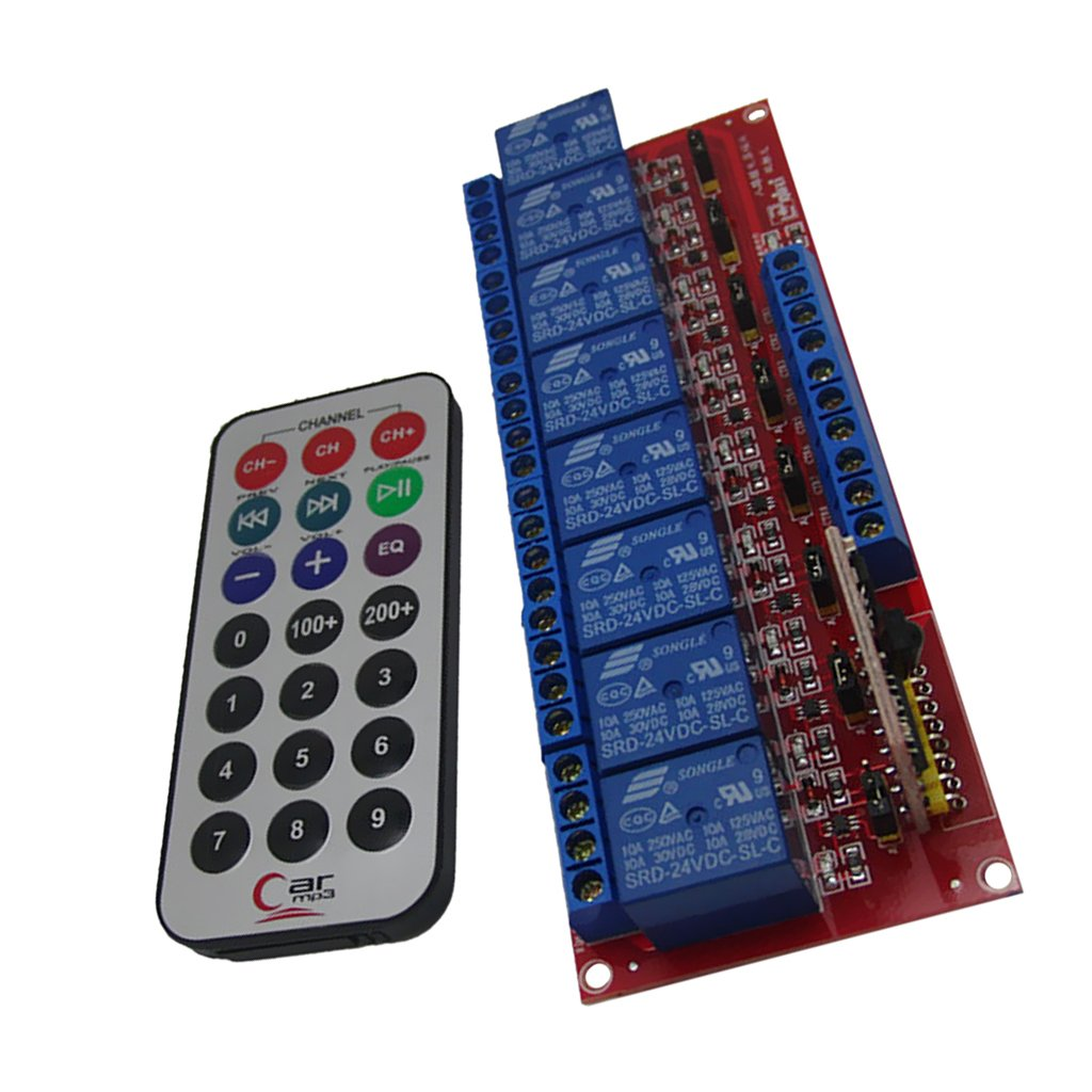 Magideal 12v 8 Channel Ir Infrared Wireless Remote Control Switch Cable Wiring Diagram For Sa 200 Relay Module Board