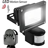 ETOPLIGHTING 10 Watt LED Motion Sensor PIR Flood Light for Indoor Outdoor Use, APL1177, Daylight White