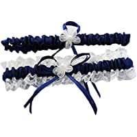 Beautydress Women's Lace Ruffle Satin Garter with 2 Pieces Packing for Wedding Bride BT090