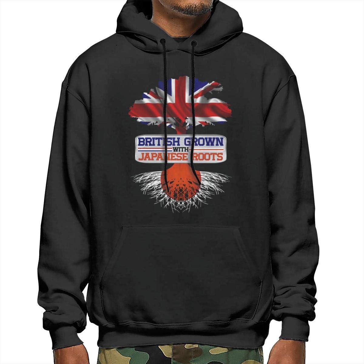 Sanda British Flag Mens Hooded Sweatshirt