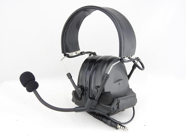 ccf73071cf8 TOMTAC AIRSOFT COMTAC II 2 HEADSET MIC BOOM RADIO PELTOR DESIGN BLACK:  Amazon.co.uk: Sports & Outdoors