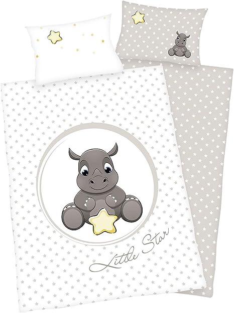 3/piezas Cama dise/ño reversible 100/x 135/cm + 40/x 60/cm + 1/s/ábana bajera en color blanco 70/x 140/cm animales beb/é