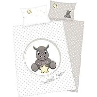 3piezas Cama diseño reversible: rinoceronte bebé (100x 135cm